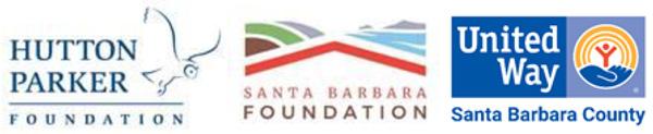Hutton Parker Foundation, Santa Barbara Foundation, United Way logos
